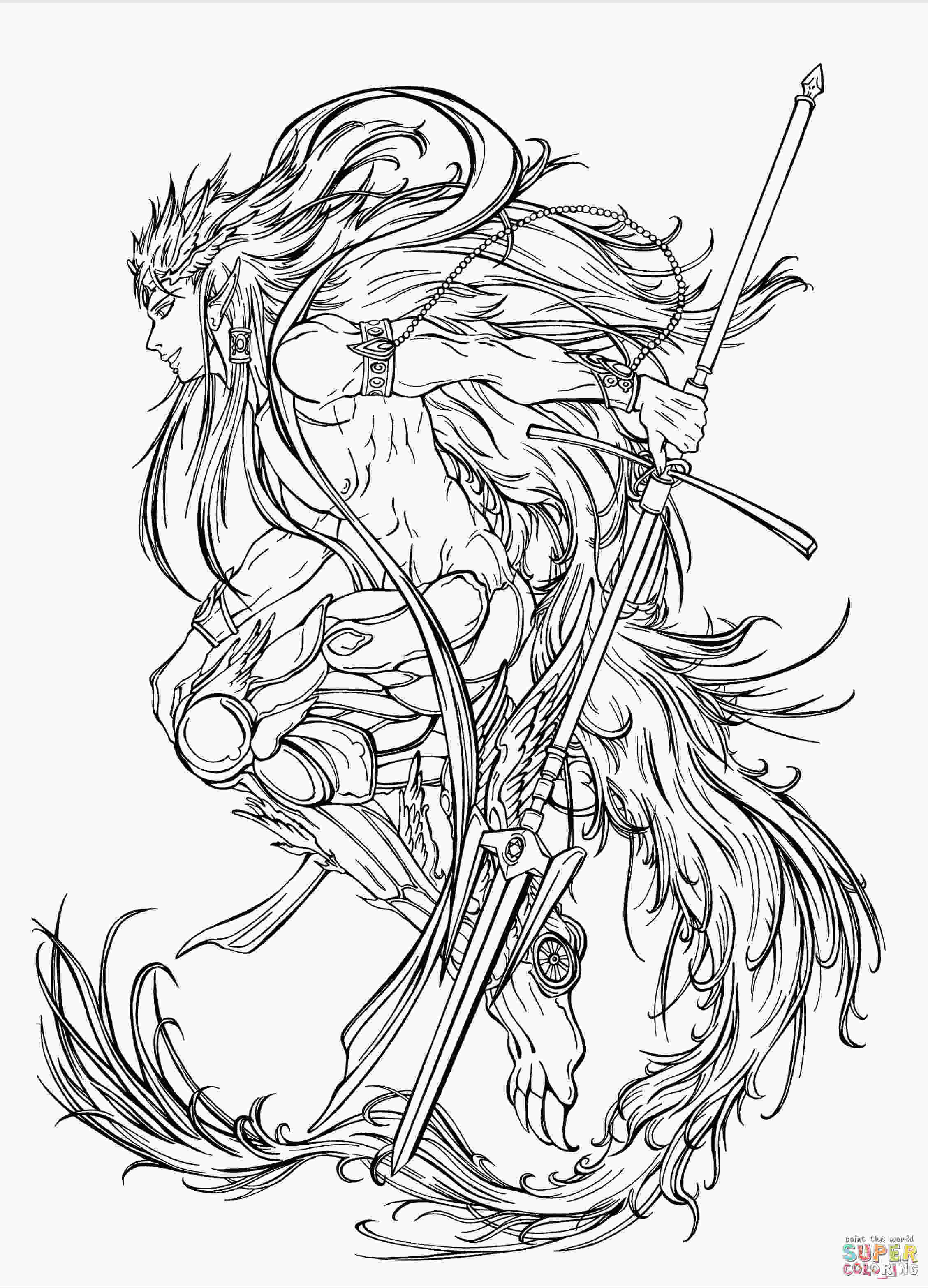 anime character coloring pages muu alexius in his djinns equip from manga quotmagi