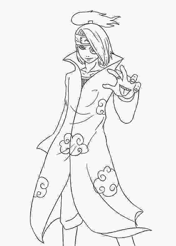 anime character coloring pages naruto characters anime coloring pages for kids printable
