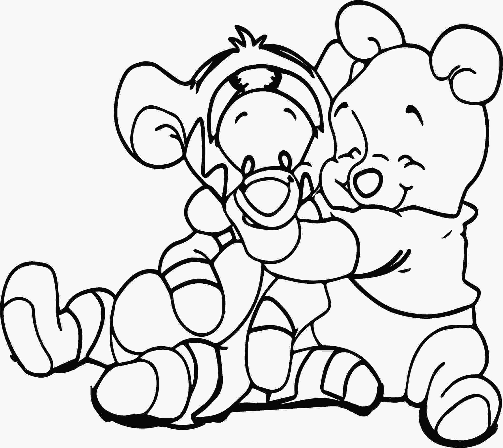 baby tigger coloring pages baby pooh and tigger coloring page wecoloringpagecom