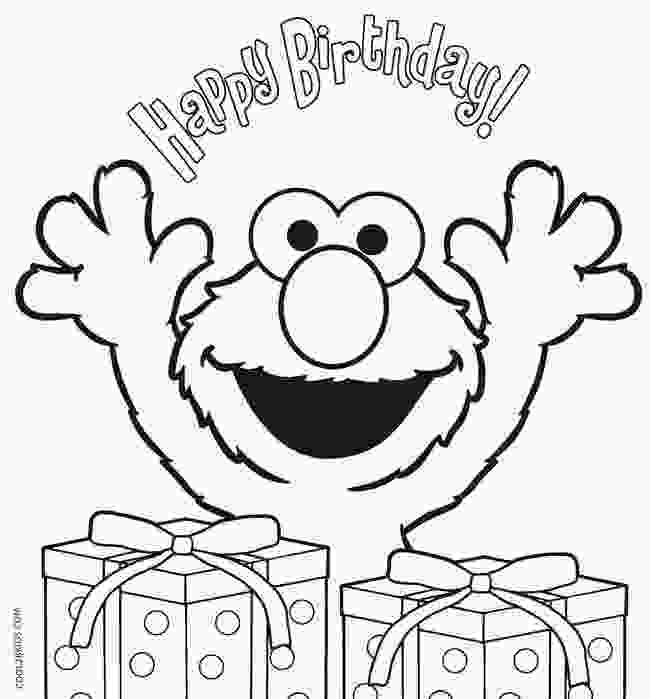 birthday coloring page printable elmo coloring pages for kids cool2bkids