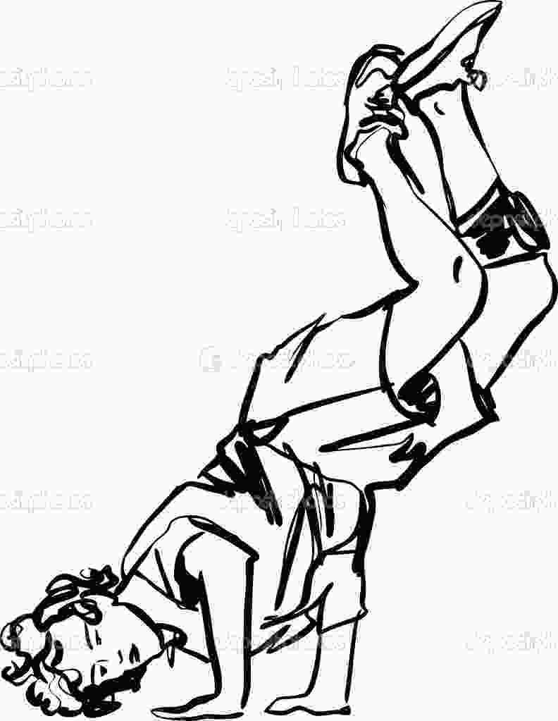 boy dancer coloring page hip hop black and white clipart clipart suggest