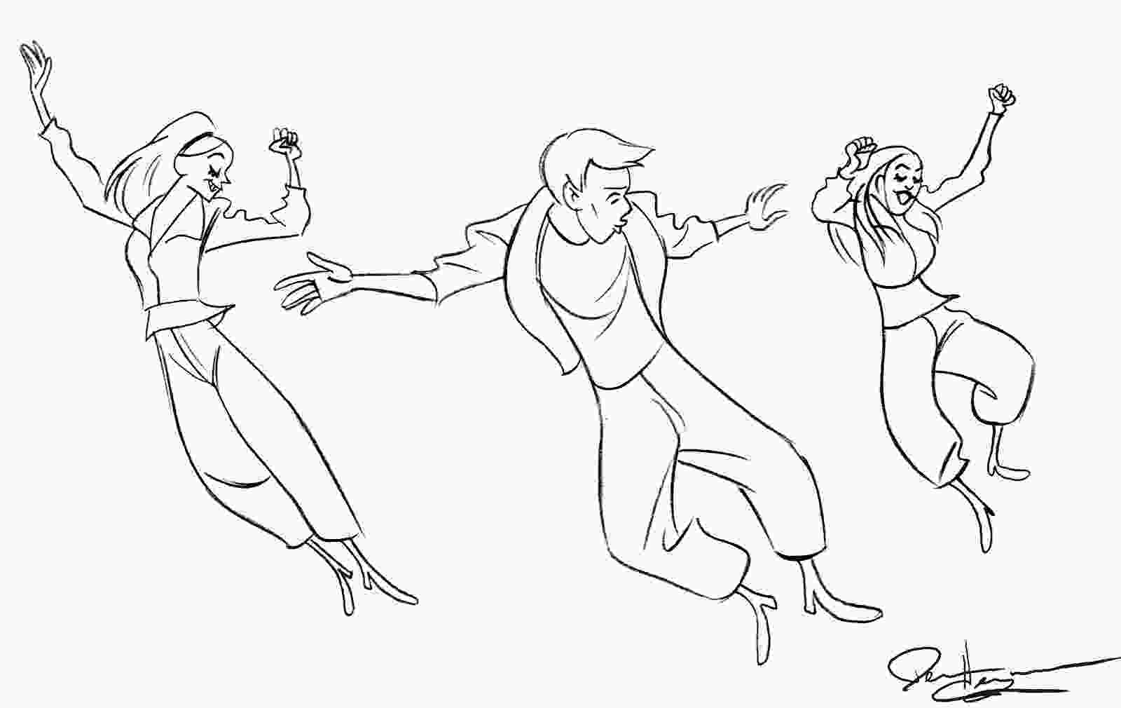 boy dancer coloring page line dancing coloring pages