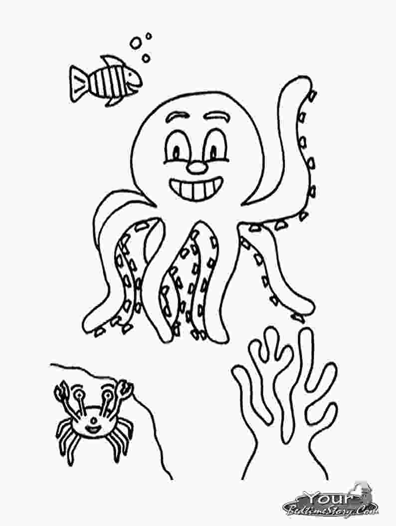 coloring images kids free printable octopus coloring pages for kids animal place