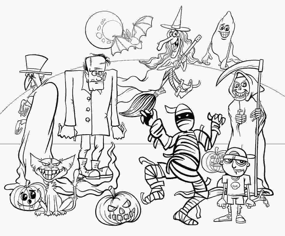 coloring sheet halloween halloween coloring pages 10 free spooky printable
