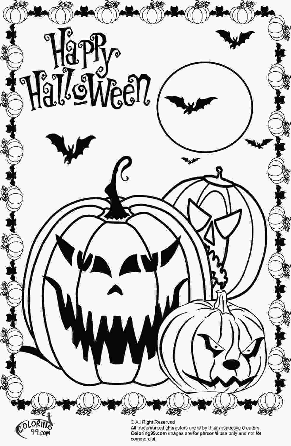 coloring sheet halloween scary halloween pumpkin coloring pages team colors
