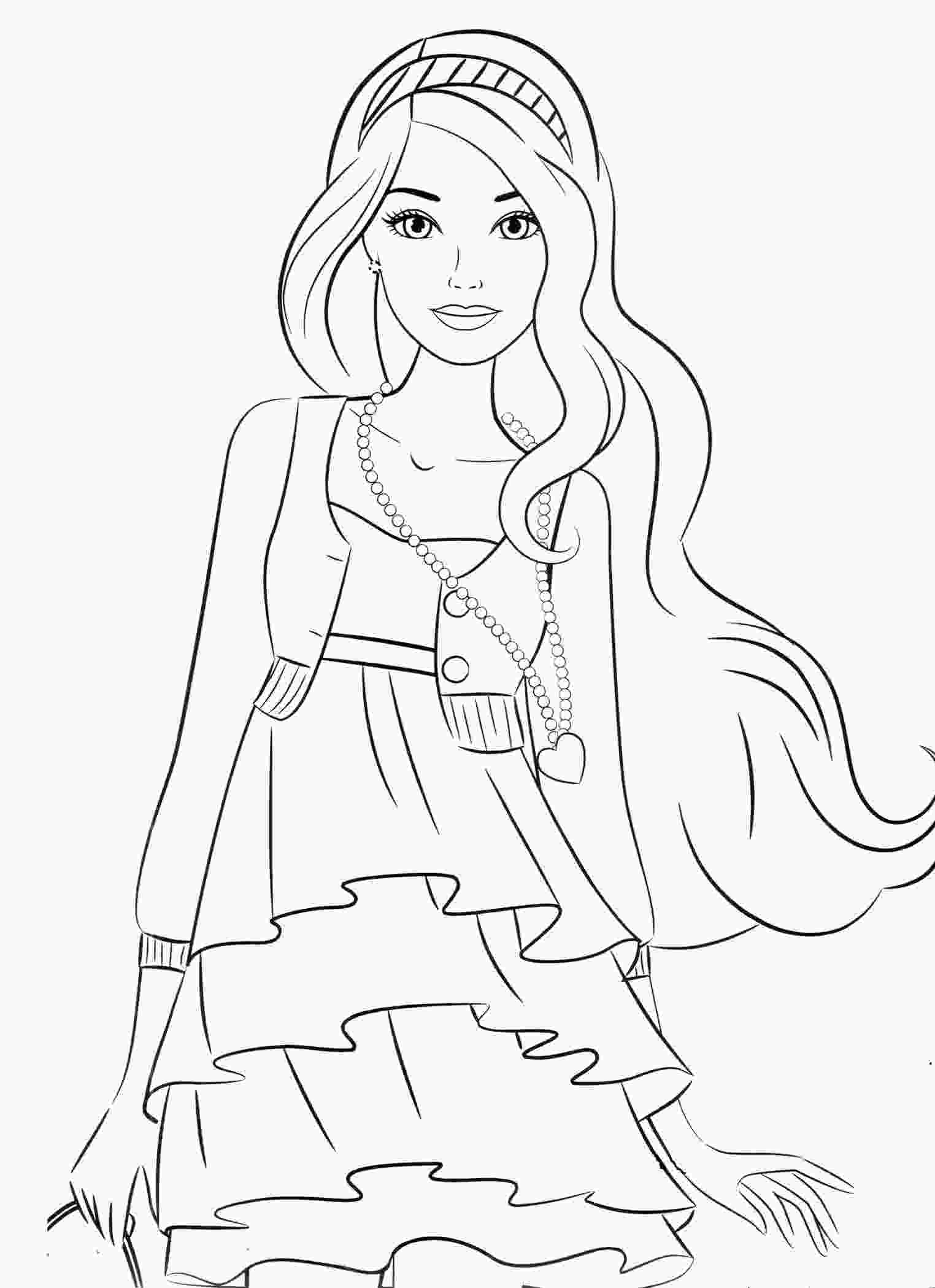 coloring sheets of girls coloring pages for 8910year old girls to download and