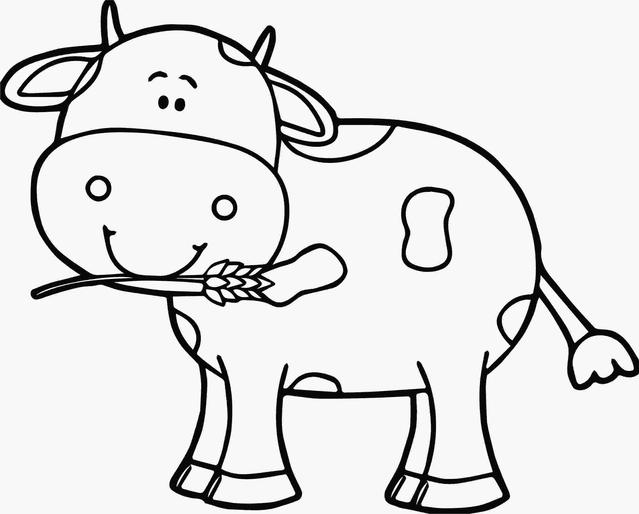 cow coloring sheets cute cow coloring page wecoloringpagecom
