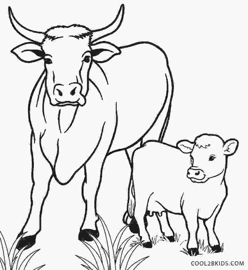 cow coloring sheets free printable cow coloring pages for kids cool2bkids