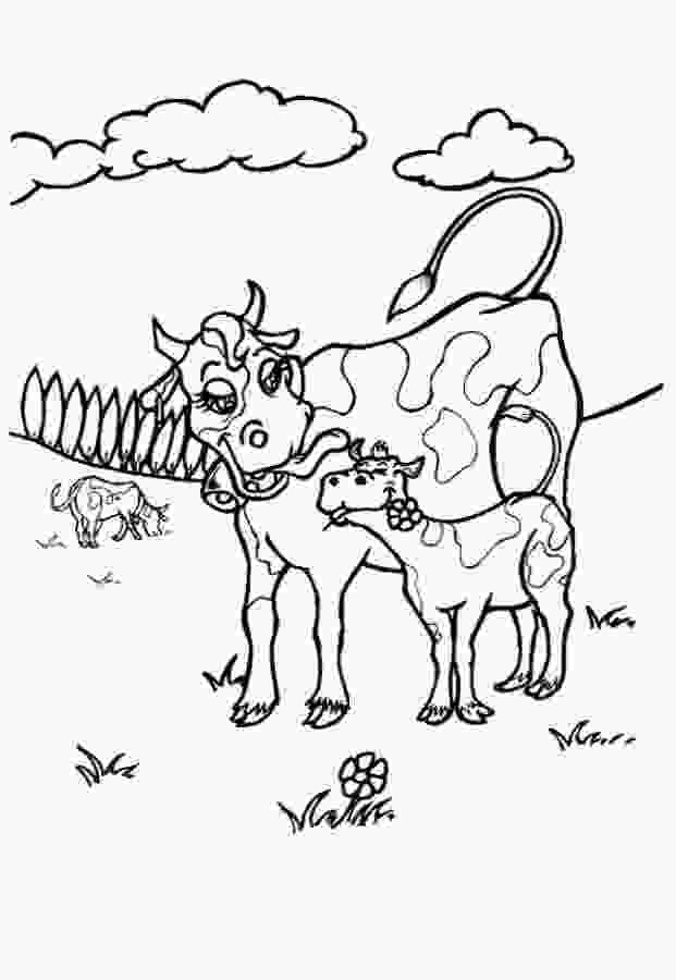 cow coloring sheets free printable cow coloring pages for kids