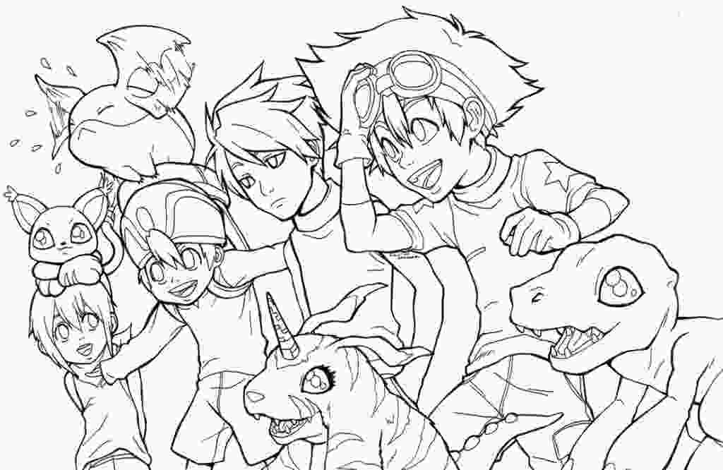 digimon coloring free printable digimon coloring pages for kids 1