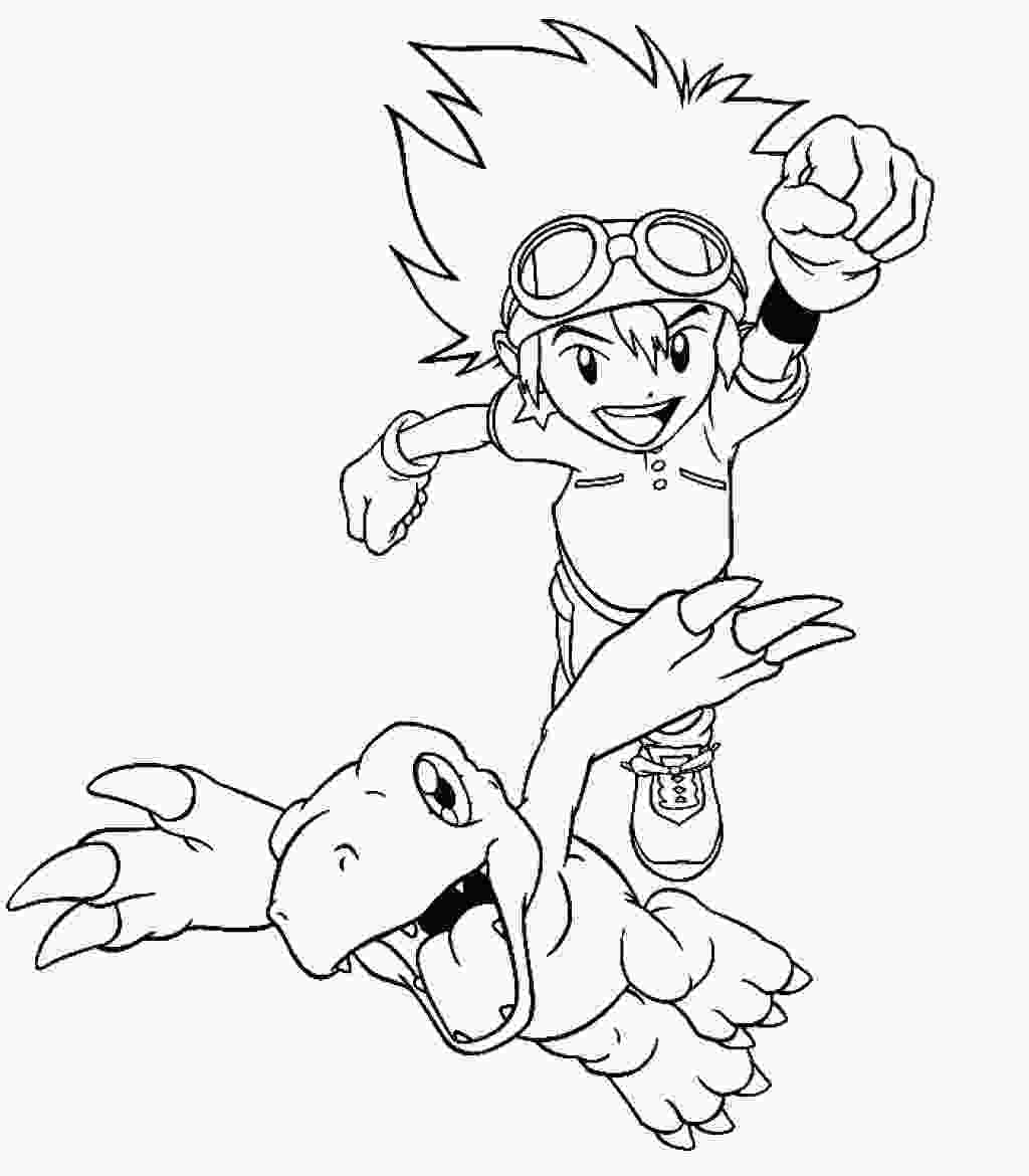 digimon coloring free printable digimon coloring pages for kids