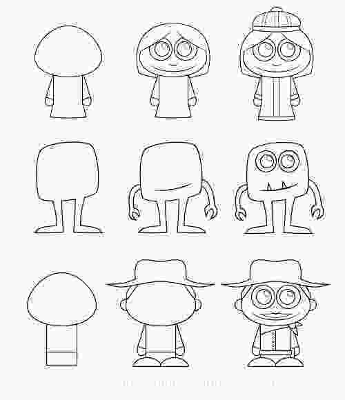 easy cartoon characters to draw how to draw cartoon characters