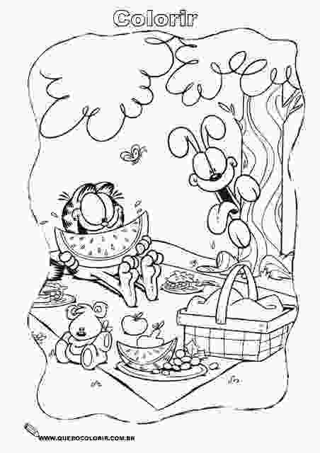 garfield at the beach garfield coloring pages coloring pages for kids free