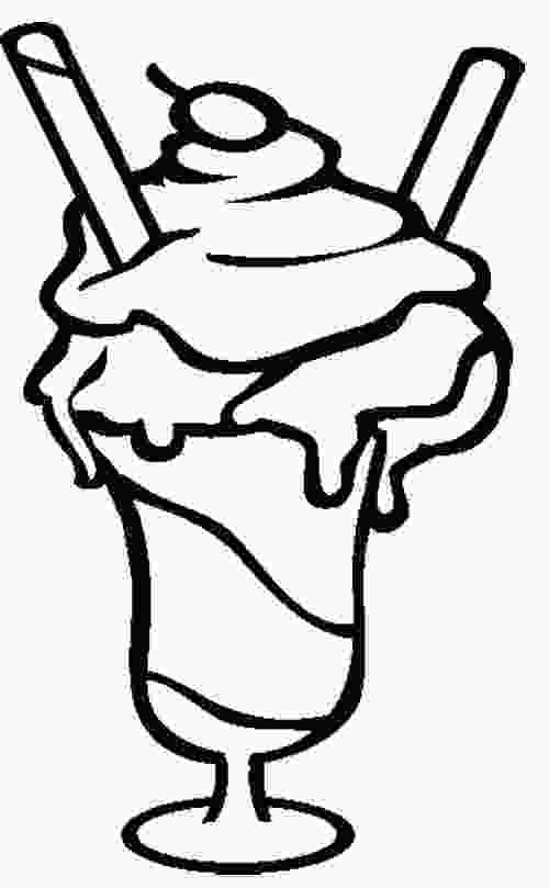 ice cream sundae coloring ice cream sundae coloring page cookie pinterest