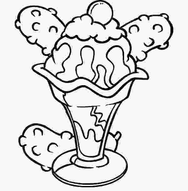 ice cream sundae coloring popcicle free coloring pages