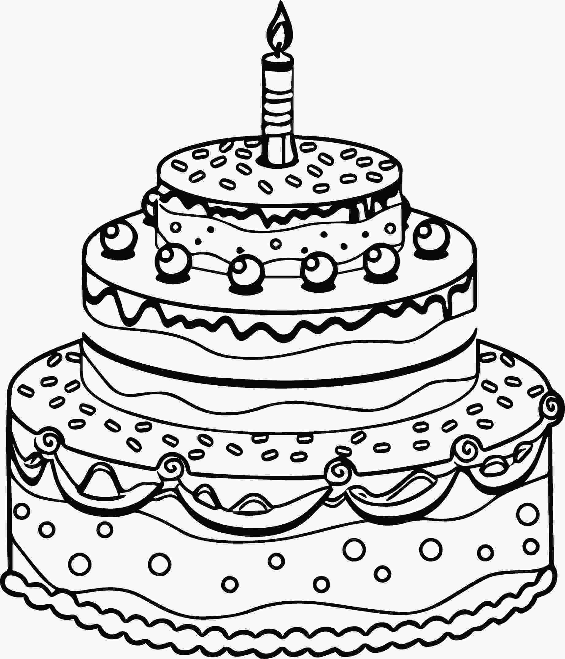 picture of cake to color birthday cake coloring page at getcoloringscom free