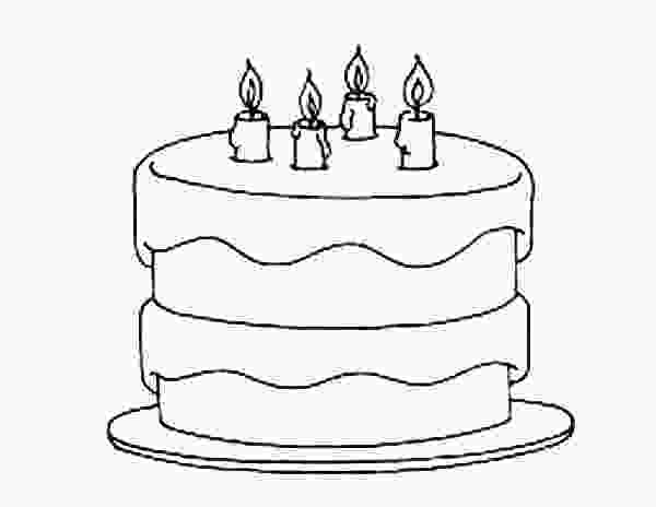picture of cake to color birthday cake coloring pages netart