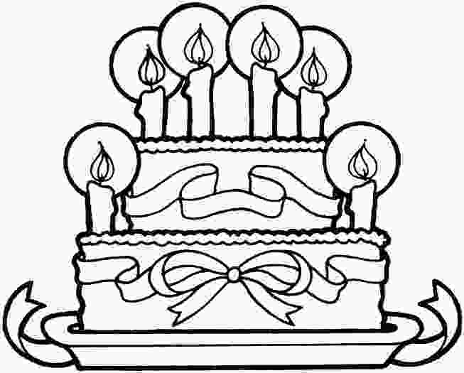 picture of cake to color birthday cakes simple birthday cake coloring page