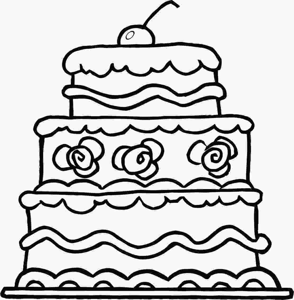 picture of cake to color cake coloring pages to download and print for free