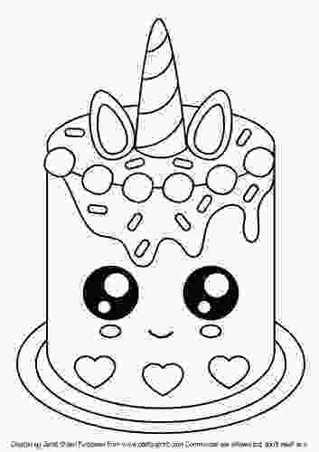 picture of cake to color cute unicorn cake digi stamp cup90955770151 craftsuprint