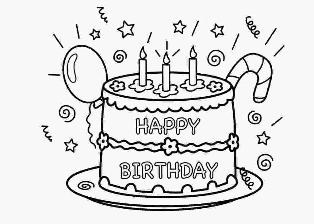 picture of cake to color free printable birthday cake coloring pages for kids 1