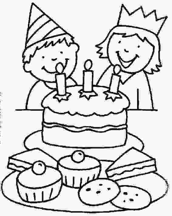 picture of cake to color free printable birthday cake coloring pages for kids