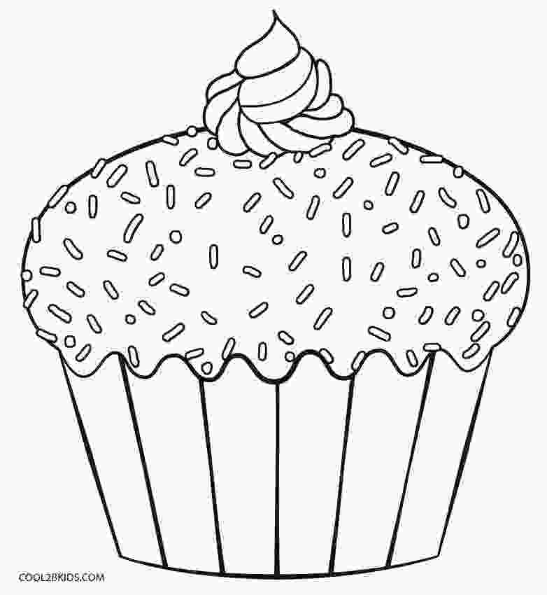 picture of cake to color free printable cupcake coloring pages for kids cool2bkids