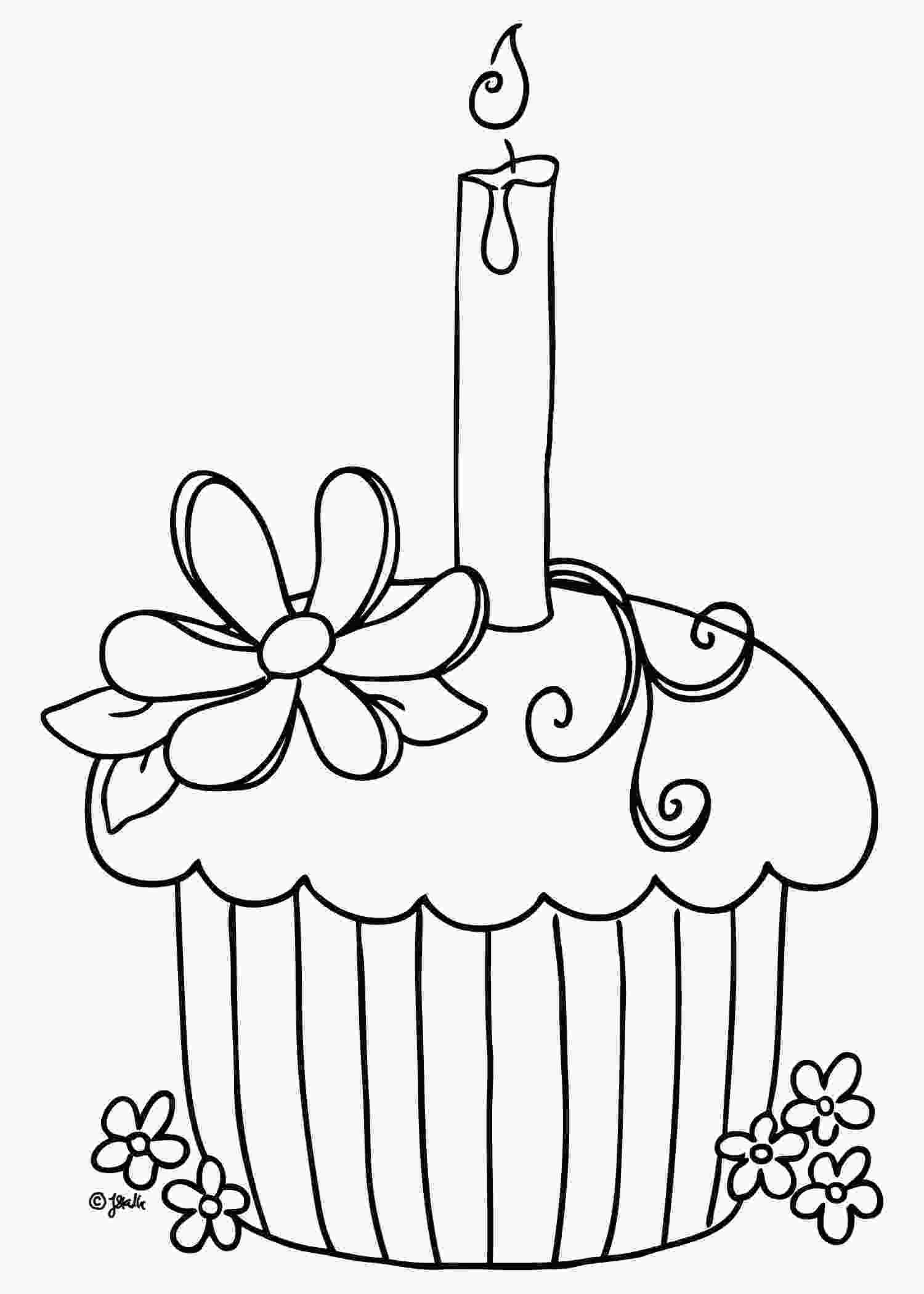 picture of cake to color free printable cupcake coloring pages for kids