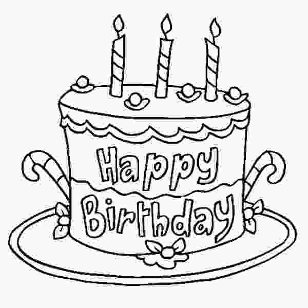 picture of cake to color happy birthday coloring pages cake coloring pages