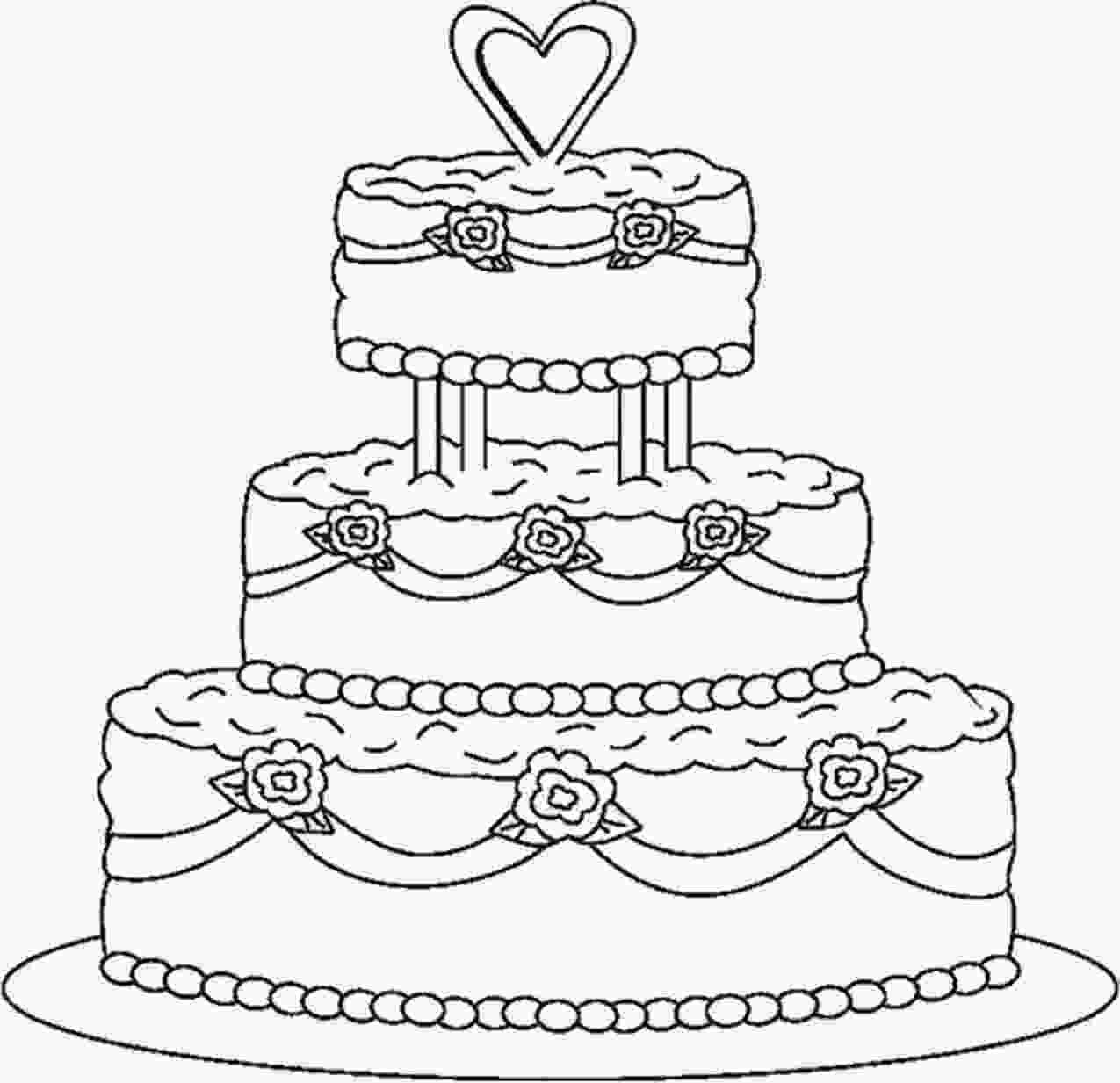 picture of cake to color wedding coloring pages 13 coloring pages wedding