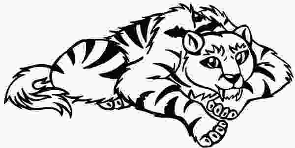 saber tooth tiger coloring pages a cartoon illustration of sabretooth tiger coloring page