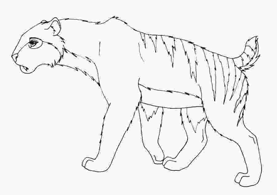 saber tooth tiger coloring pages saber tooth tiger coloring page coloring home