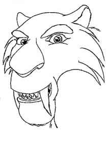 saber tooth tiger coloring pages sabertooth tiger head coloring pages