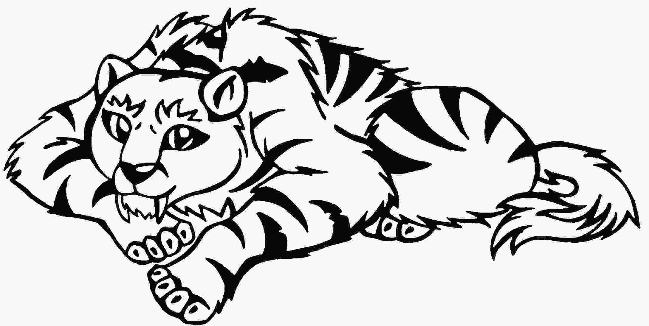 saber tooth tiger coloring pages sabre tooth tiger drawing at getdrawingscom free for