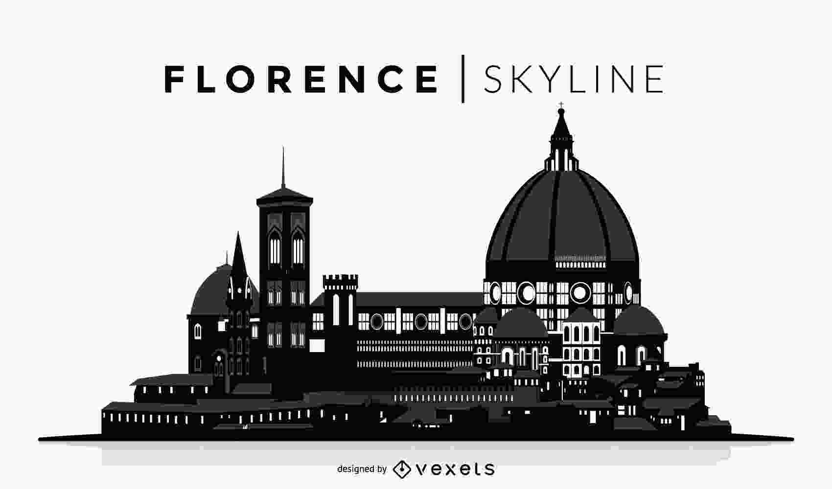 silhouette skyline florence silhouette skyline vector download