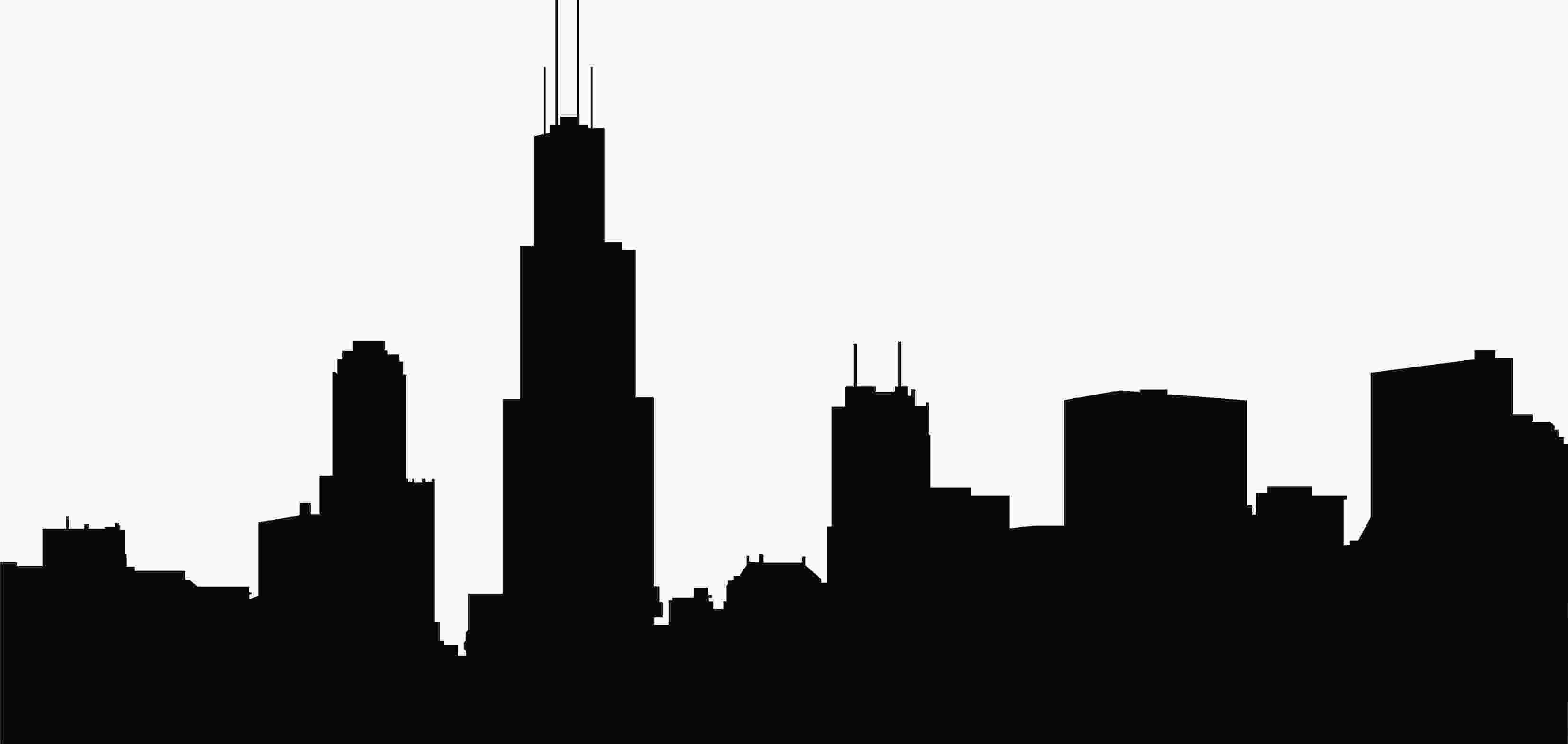 silhouette skyline skyline clipart clipartfest projects to try chicago