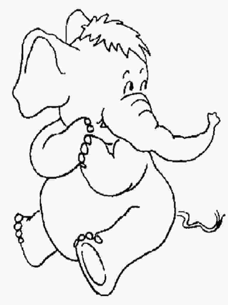 baby elephant cartoon coloring pages baby elephant cartoon drawing at getdrawingscom free 1