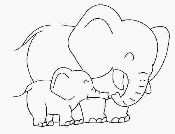 baby elephant cartoon coloring pages baby elephant love her mother coloring page elephants
