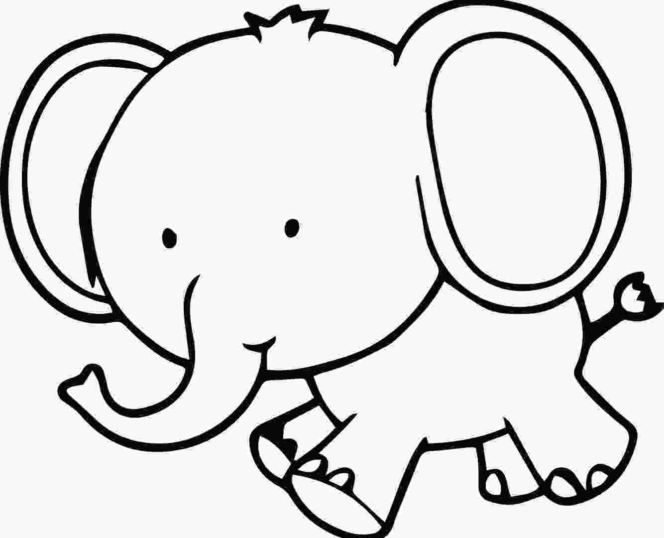 baby elephant cartoon coloring pages elephant baby drawing at getdrawingscom free for