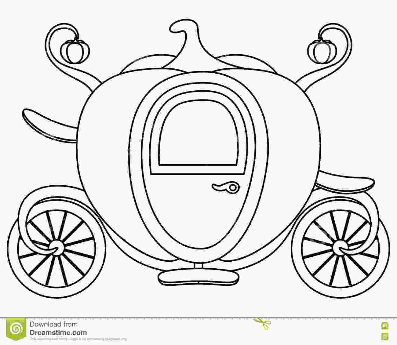 carriage coloring pages coloring pumpkin cinderellas carriage stock vector