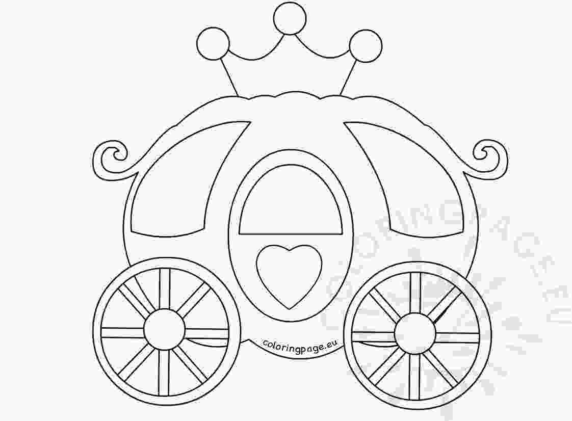 carriage coloring pages princess carriage coloring page through the thousand