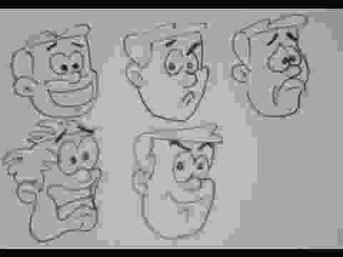 cartoon drawing tutorial how to draw cartoon facial expressions easy drawing