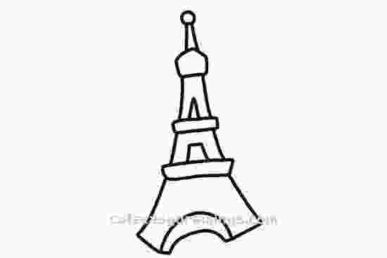 cartoon eiffel tower how to draw how to draw the cartoon eiffel tower step by step cute