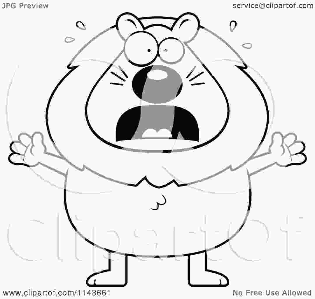cartoon lion cartoon clipart of a black and white scared lion vector