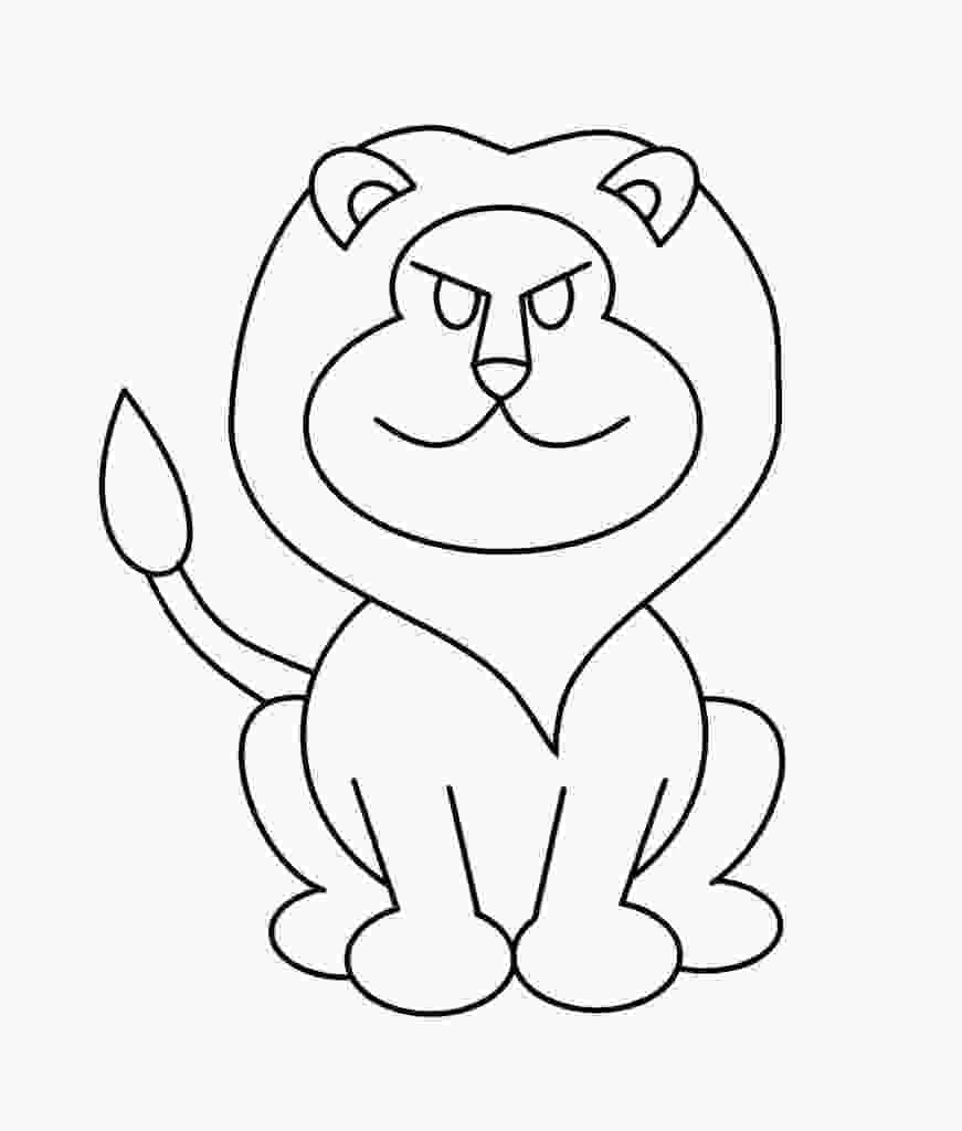 cartoon lion lion drawing wallpaper at getdrawingscom free for