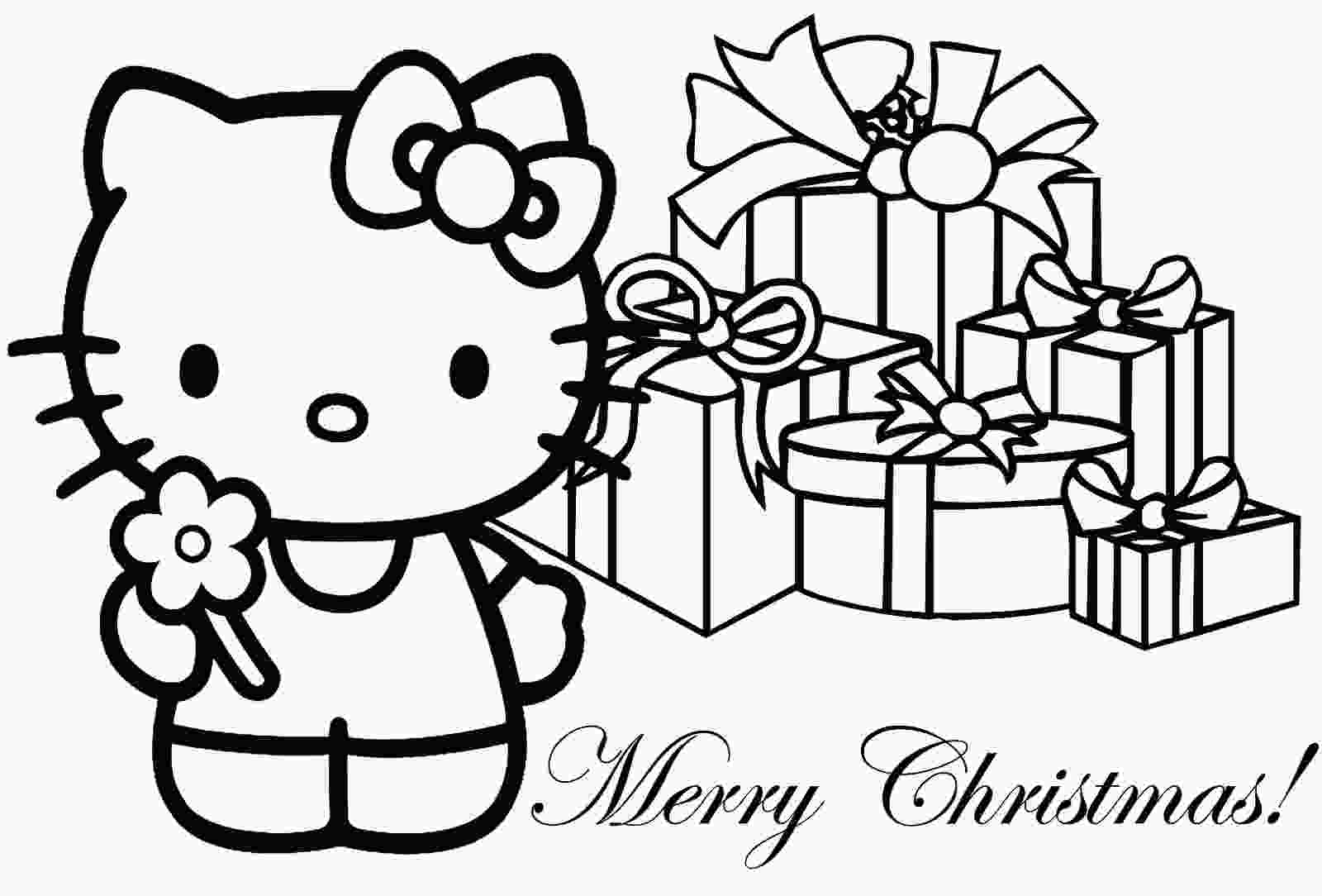 christmas printable coloring pages hello kitty christmas coloring pages 1 hello kitty forever
