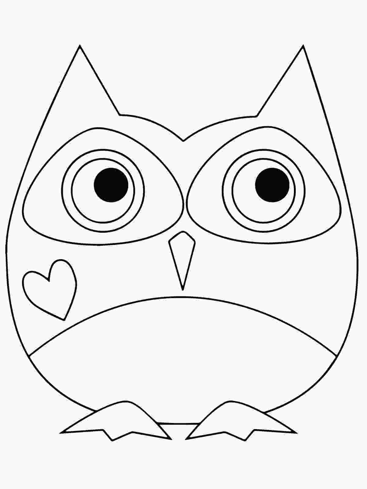 color owl pictures owl coloring pages