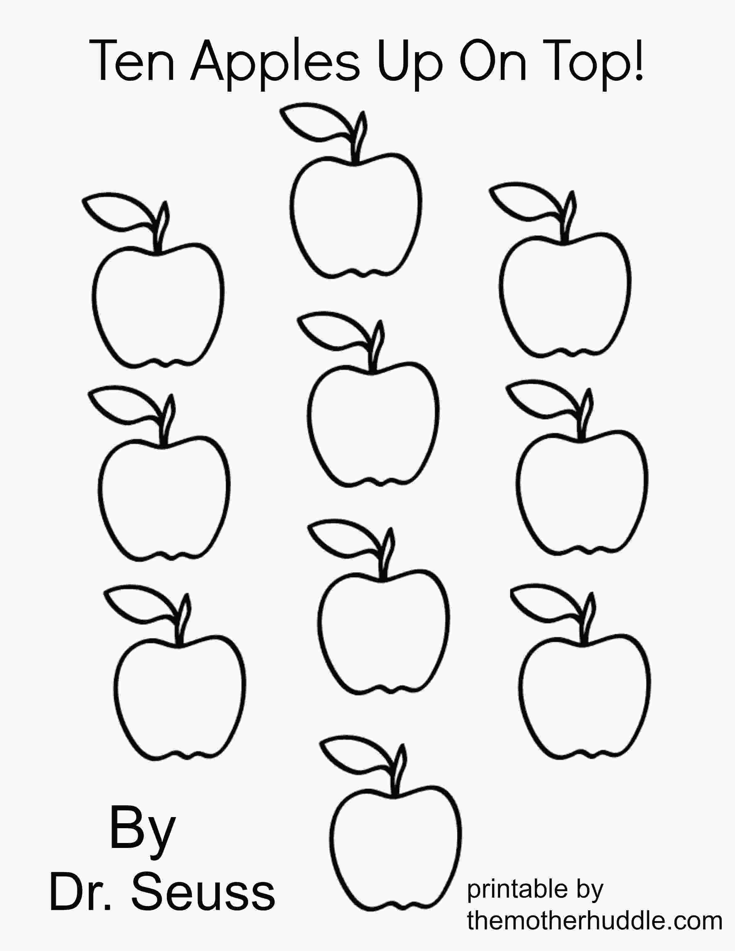 coloring apples worksheet ten apples up on top coloring pages az coloring pages