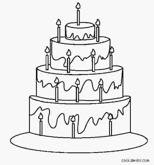 coloring birthday cake free printable birthday cake coloring pages for kids