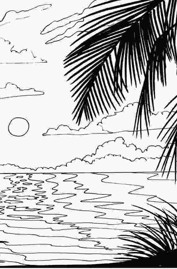 coloring image sunset beach sunset coloring pages at getcoloringscom free 1